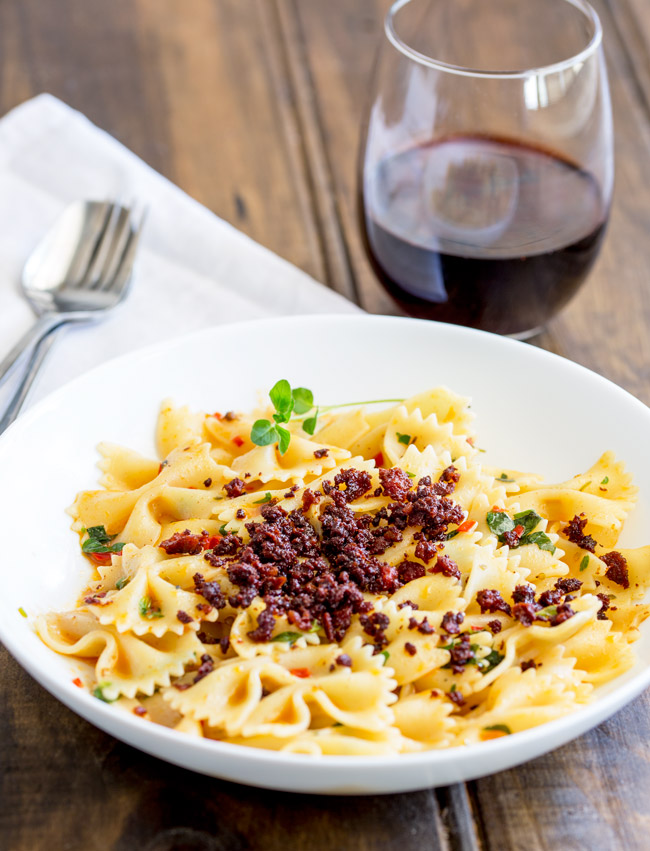 This Chili Pasta with Chorizo Crumb is perfect for when you want fire and comfort in one bowl. The pasta is tossed with a chilli and garlic oil then topped with a crispy chorizo crumb. Simple, quick and packed with flavor.